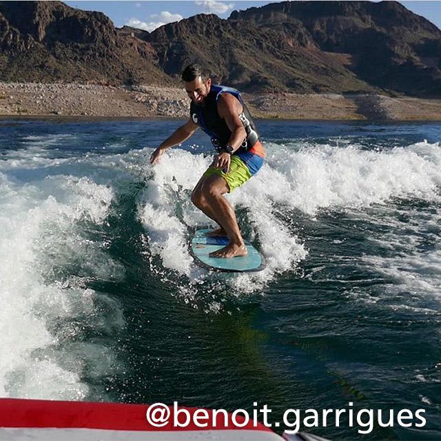 Wake boarding at Lake Mead
