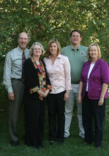 Pictured from left to right: Kevin Brandt, Rebecca Harriett, Joy Beasley, Ed Clark, and Susan Trail