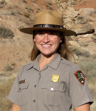 Female park ranger in uniform