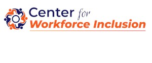 Center for Workforce Inclusion logo with orange and blue icon of people in circle