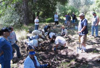 Amah Mutsun tribal volunteers