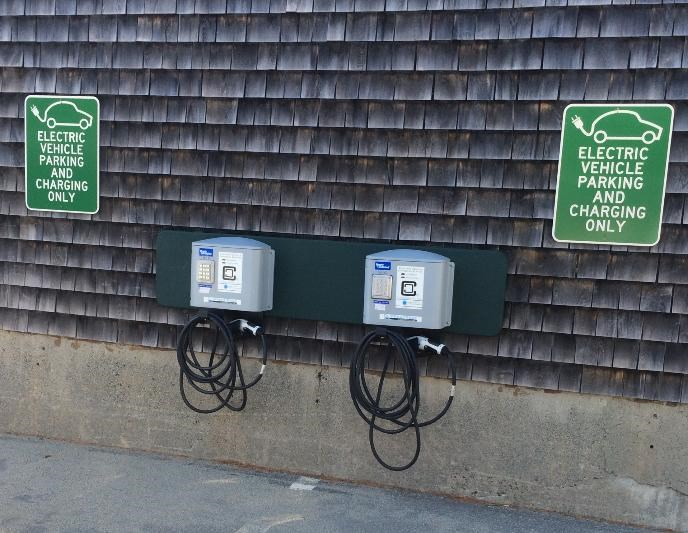 Charging station and Park Headquarters.