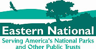 Eastern National Logo: Serving America's National Parks and Other Public Trusts.