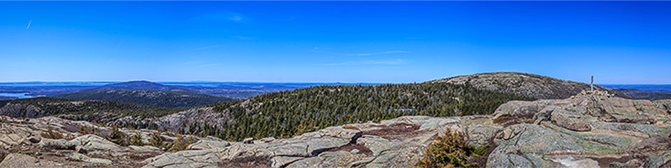 Views from Penobscot Mountain summit.