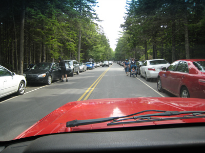 Park Loop Road at Jordan Pond House