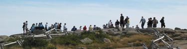 Visitors on Cadillac Mountain