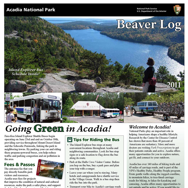 2011 Beaver Log, top of front page