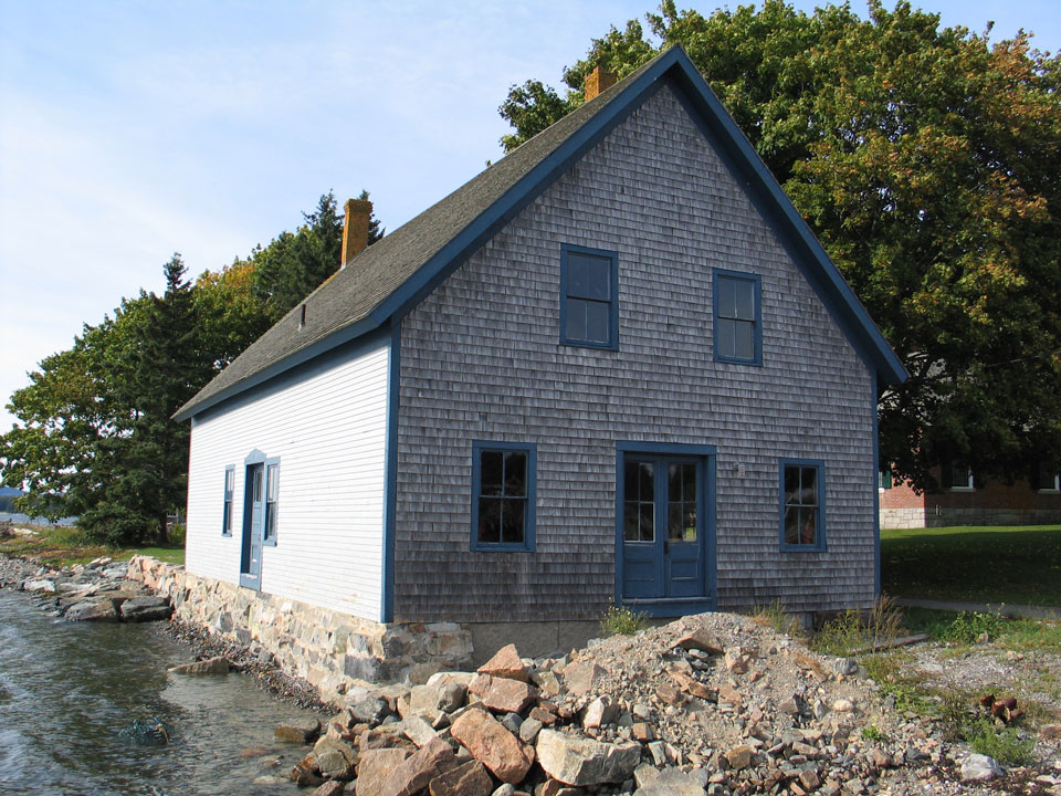 Historic building on coast