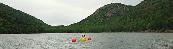 Monitoring buoy in Jordan Pond