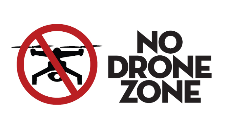 "Graphic ""No Drone Zone"""