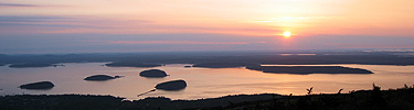 Sunrise on Cadillac Mountain, Acadia National Park.