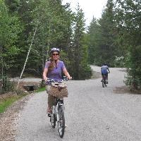 Visitors enjoy new bike paths at Schoodic.
