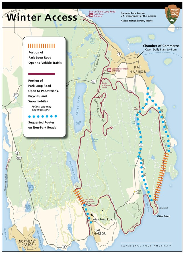 Ocean Park Maine Map.Winter Activities Acadia National Park U S National Park Service