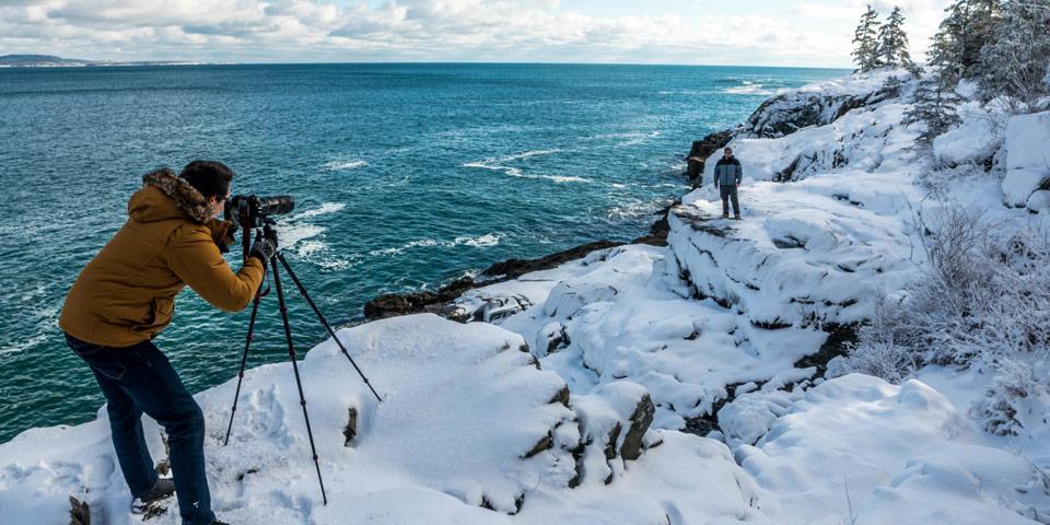 Winter Activities Acadia National Park U S National