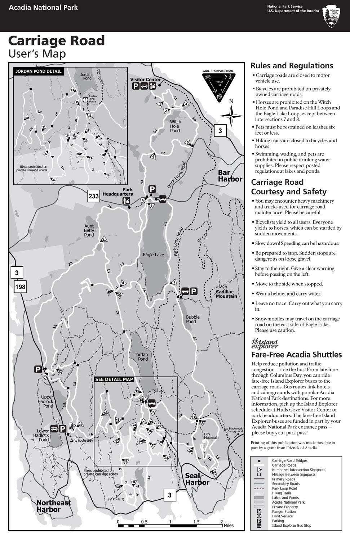 Maps Acadia National Park US National Park Service