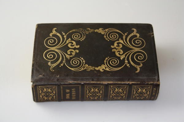 The 1841's Book of Mormon binding and cover