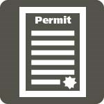 grey box with with permit icon