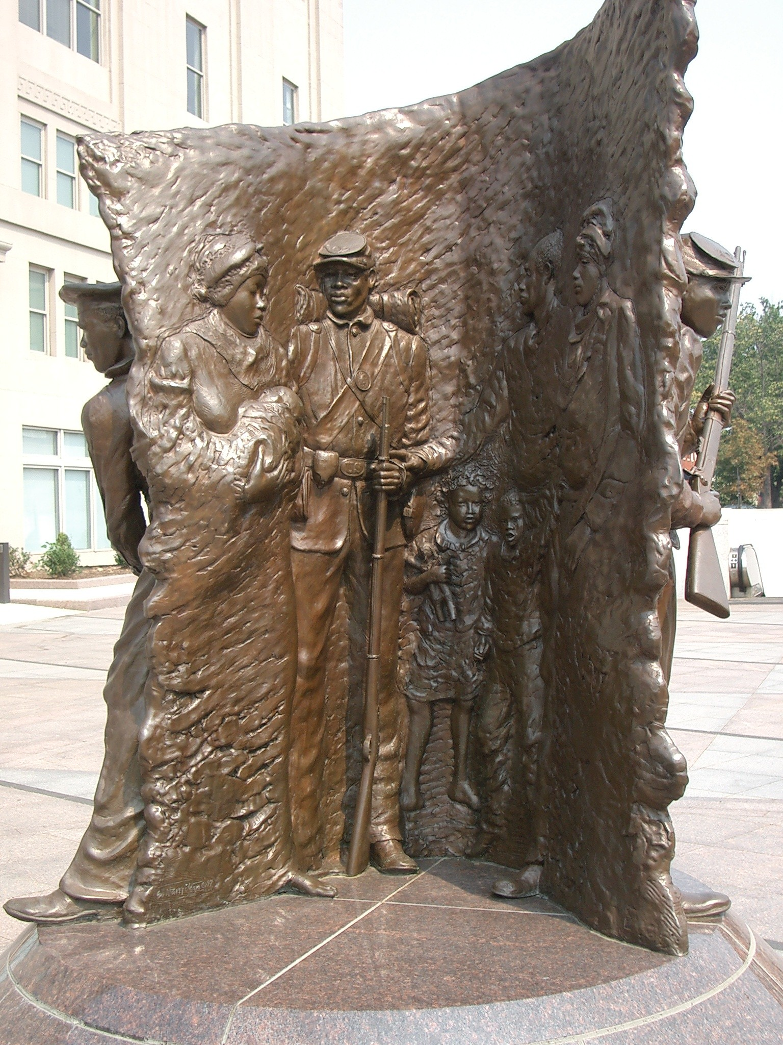 African American Civil War Memorial statue back