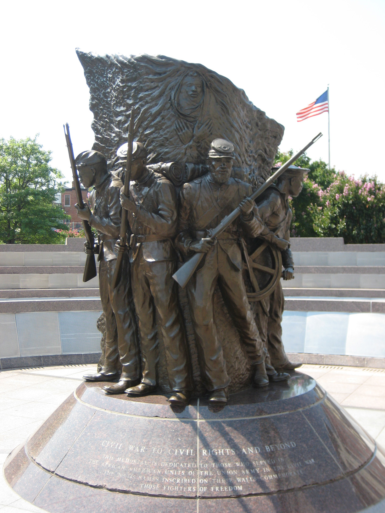 African American Civil War Memorial statue front