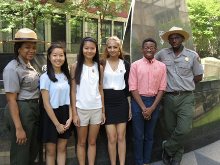 Interns at African Burial Ground