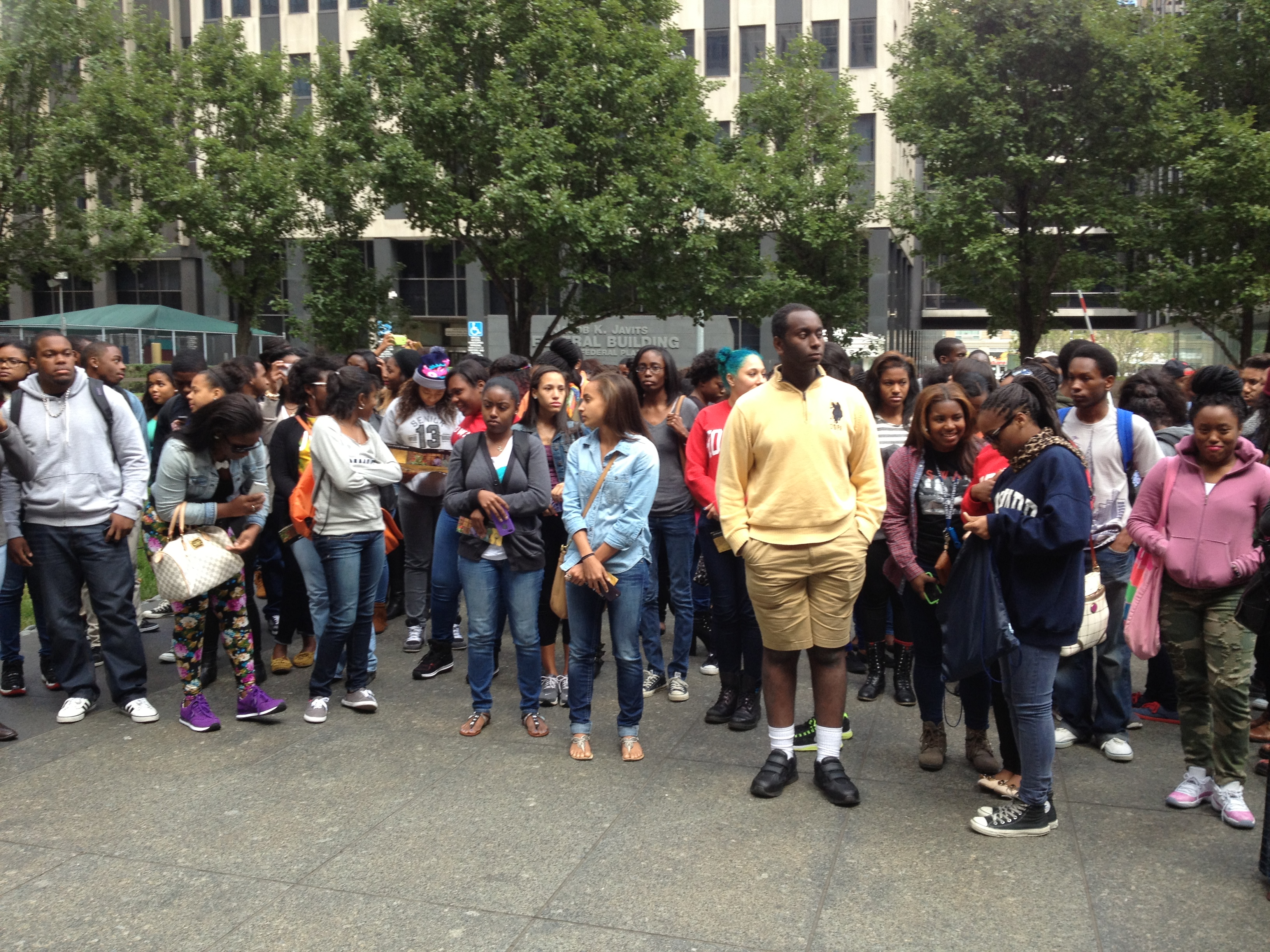 Many students from Howard University participate in an annual visit to the African Burial Ground where they learn our history