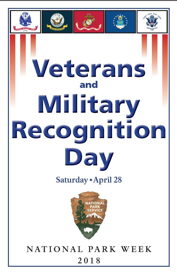 Poster advertising Veteran-Military Recognition Day April 28, 2018