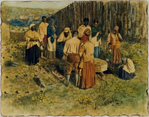 African Burial Ground painting by Charles Lilly