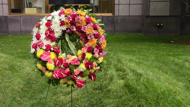 Wreath at Memorial