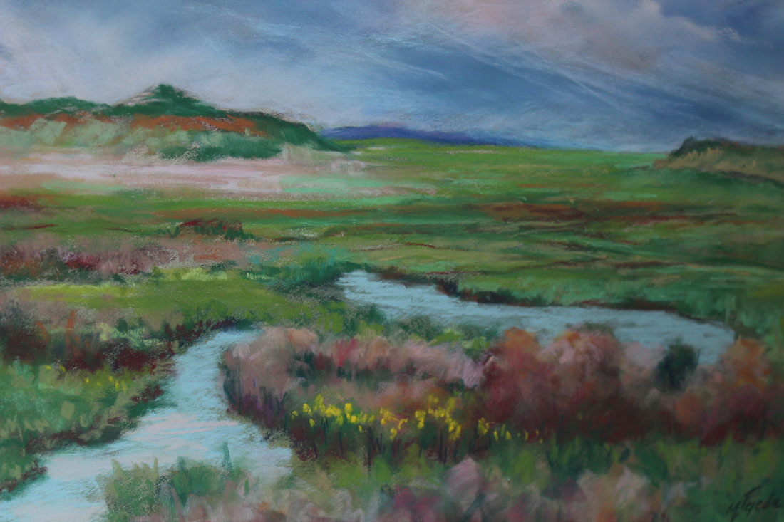 Pastel painting of Niobrara River Valley
