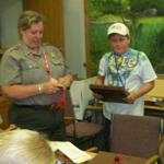 Ranger visits classroom and presents talk.
