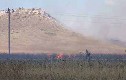Lighting fire during 2011 prescribed burn.