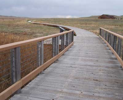 Bridge and boardwalk on Fossil Hills Trail