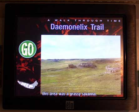 interactive hiker with touch screen
