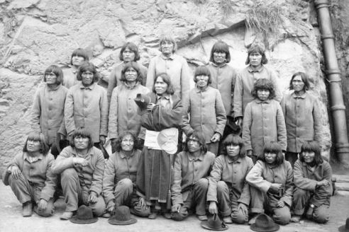 Hopi inmates on Alcatraz - 1895