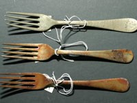 tarnished forks in a row
