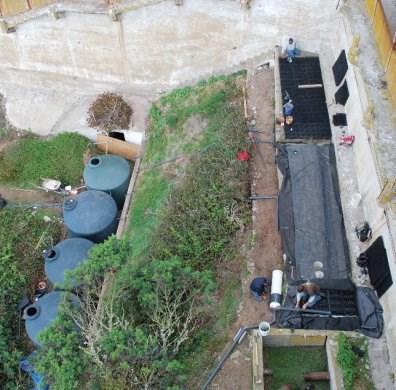 Alcatraz water catchment system