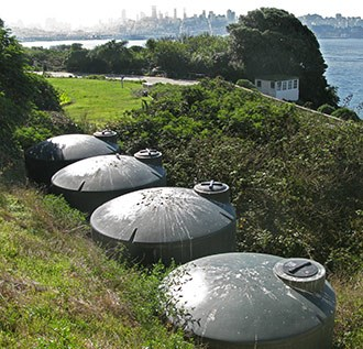 Alcatraz water catchment tanks