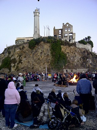 Sunrise Ceremony on Alcatraz