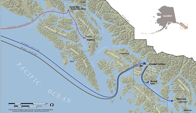 map of Southeast Alaska