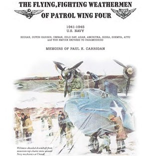book cover of artistic WWII-era plane and people in a rain or snow storm