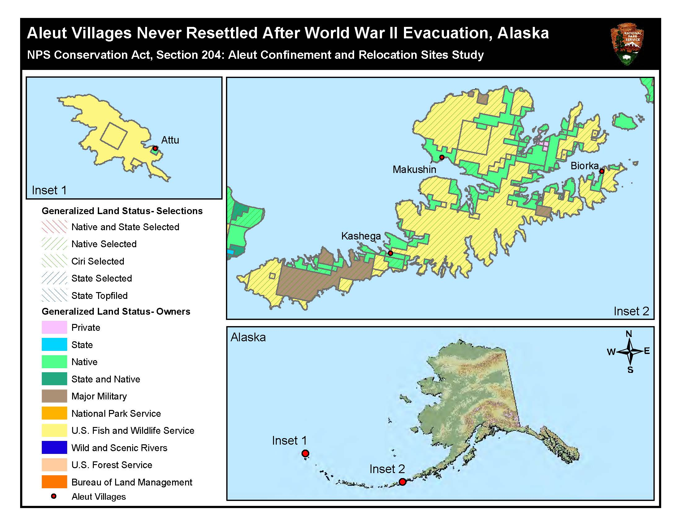 Evacuation and internment 1942 1945 aleutian world war ii maps view a map detailing interment sites in southeast alaska and a map illustrating gumiabroncs Images