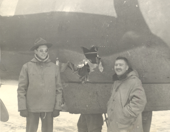 John Pletcher's B-26, with pilots