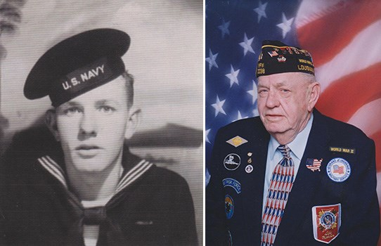 Roy Lee in uniform at ages 16 and 83
