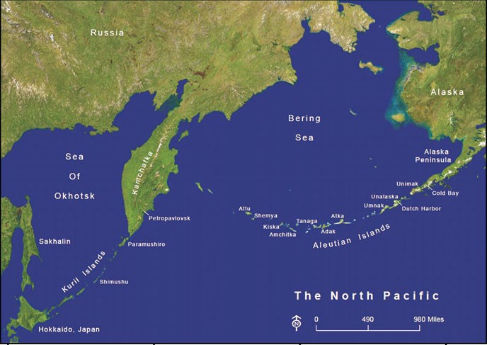 Maps aleutian world war ii national historic area us national north pacific map gumiabroncs Images
