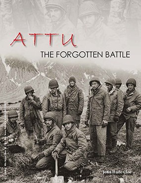 "photo of soldiers on the tundra with title ""Attu: The Forgotten Battle"""