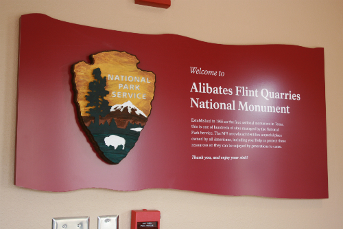 Entrance sign at the Alibates Visitor Center
