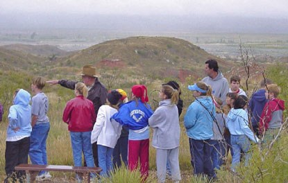 Photo of School group touring Alibates