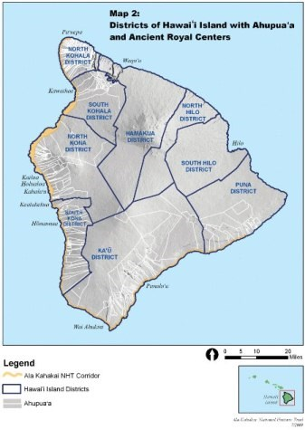 Hawaii island moku map