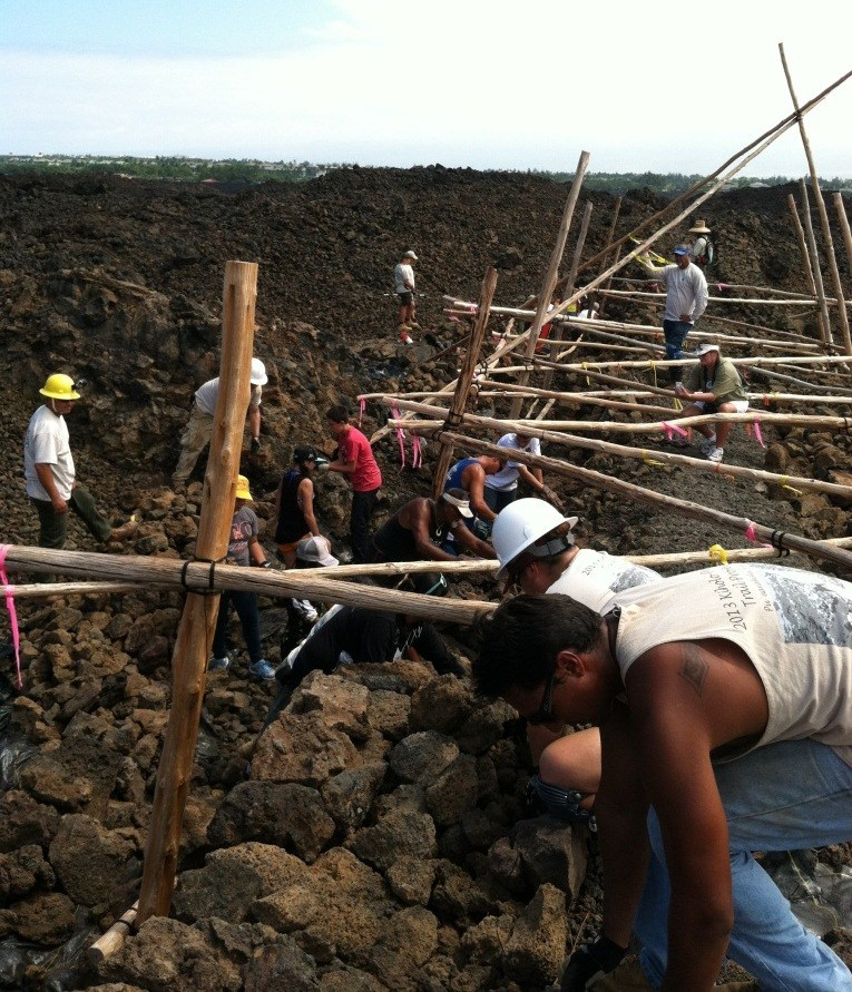 Olokea, a traditional Hawaiian ladder system