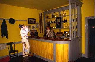 View of the reconstructed bar area of the Lemon House tavern